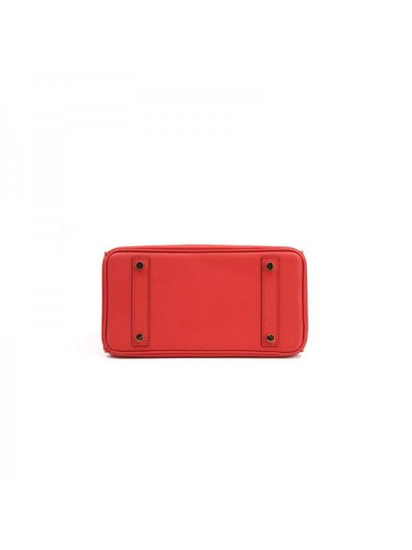 25/30CCBB 手掌纹经典款中国红色金扣W
