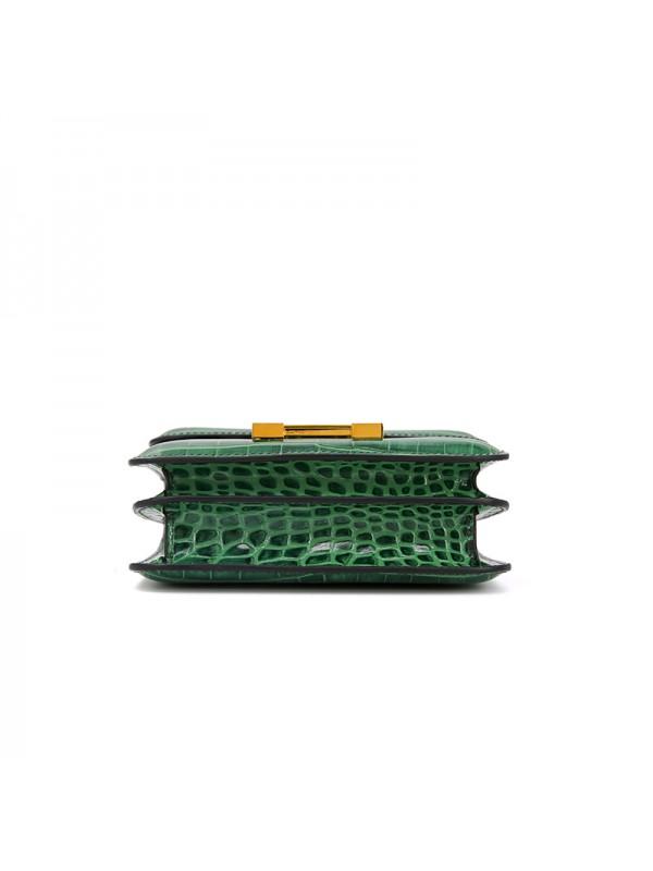 19/23CCDD 湾鳄潘多拉空姐包翡翠绿色H金扣
