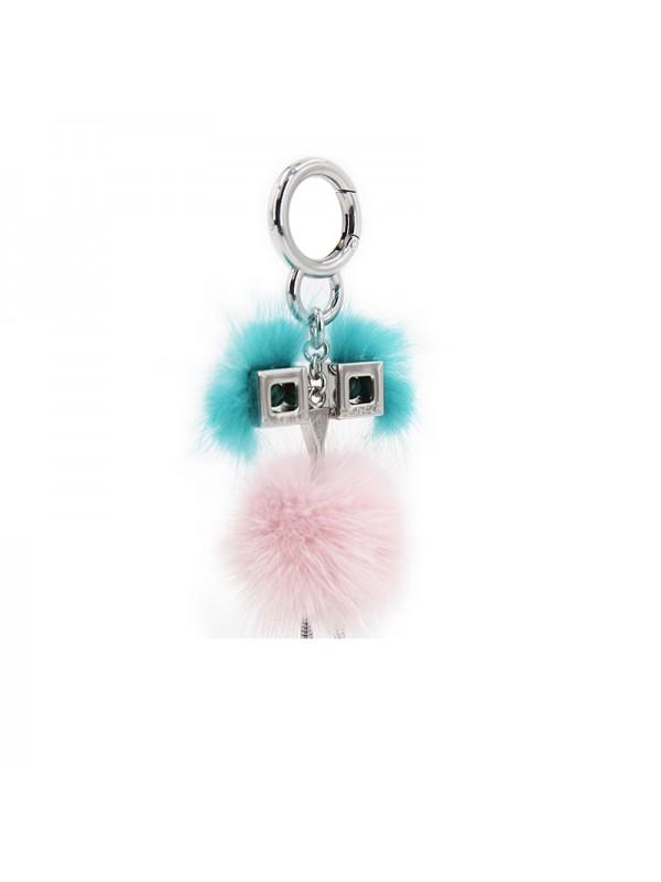 HLM 水貂毛球挂件BABY粉色