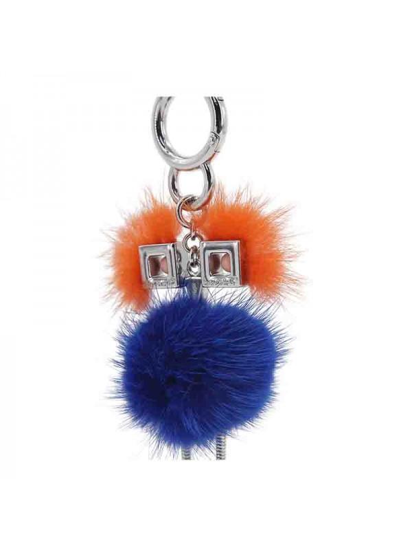 HLM 水貂毛球挂件电光蓝色