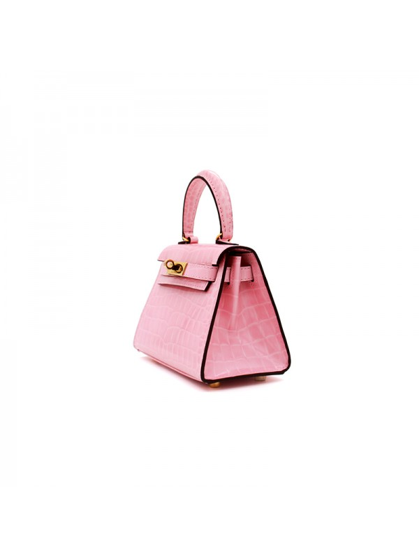 16CCKK 湾鳄经典款Baby粉色金扣