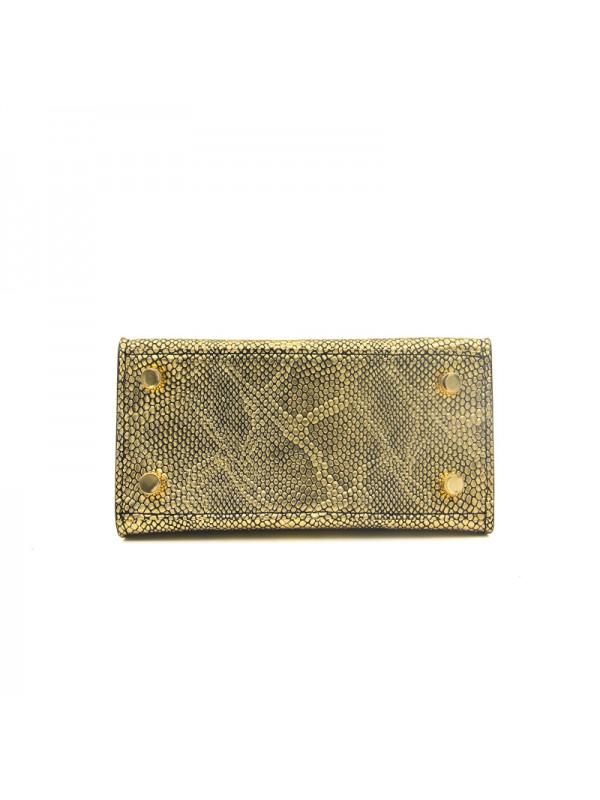 16CCKK 蟒蛇纹经典款金色金扣