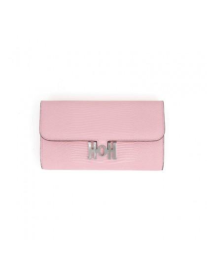22BJBW 蜥蜴纹BABY粉色皮夹HOH银扣