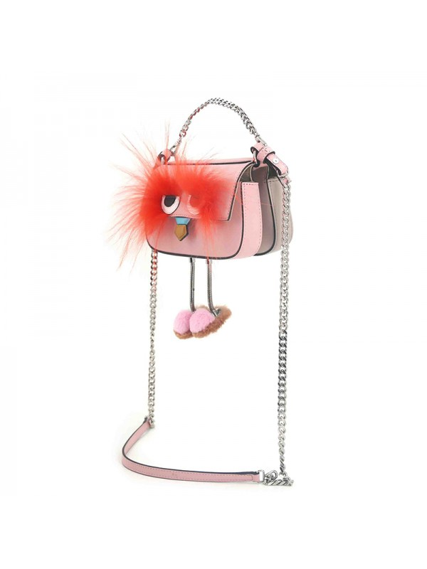 18CCED 小精灵兰博基尼BABY粉色拼浅卡其银扣