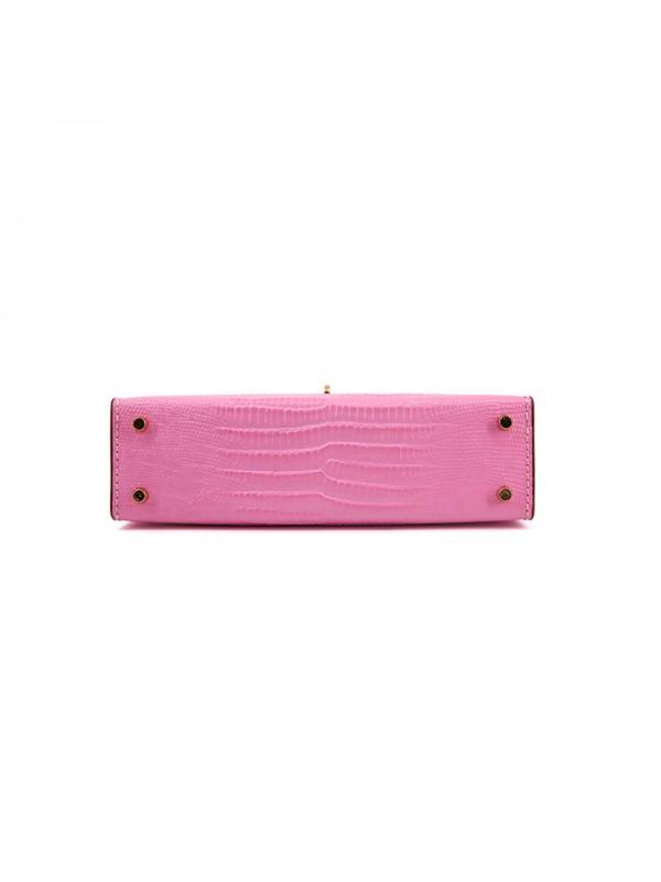 20CCKK 蜥蜴纹经典款樱花粉色金扣(升级版)
