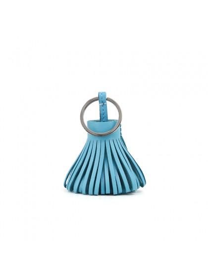 草裙挂件天空蓝银扣