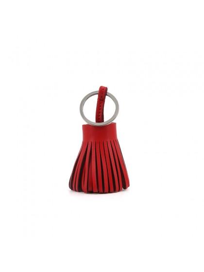 草裙挂件中国红银扣