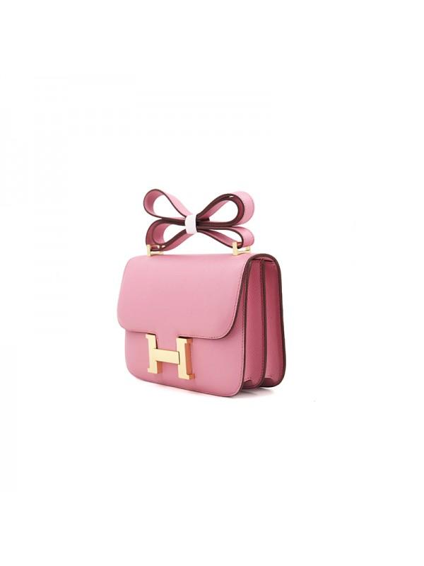 19/23CCDD 手掌纹潘多拉空姐包樱花粉色H金扣W