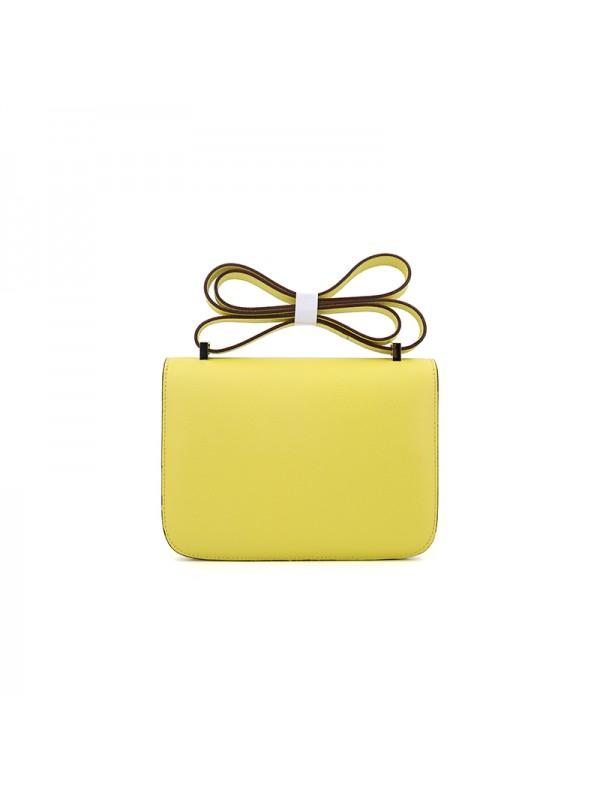 19/23CCDD 手掌纹潘多拉空姐包柠檬黄色H金扣W