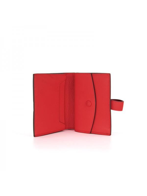 11/18TLHH 平纹橙红色皮夹H银扣