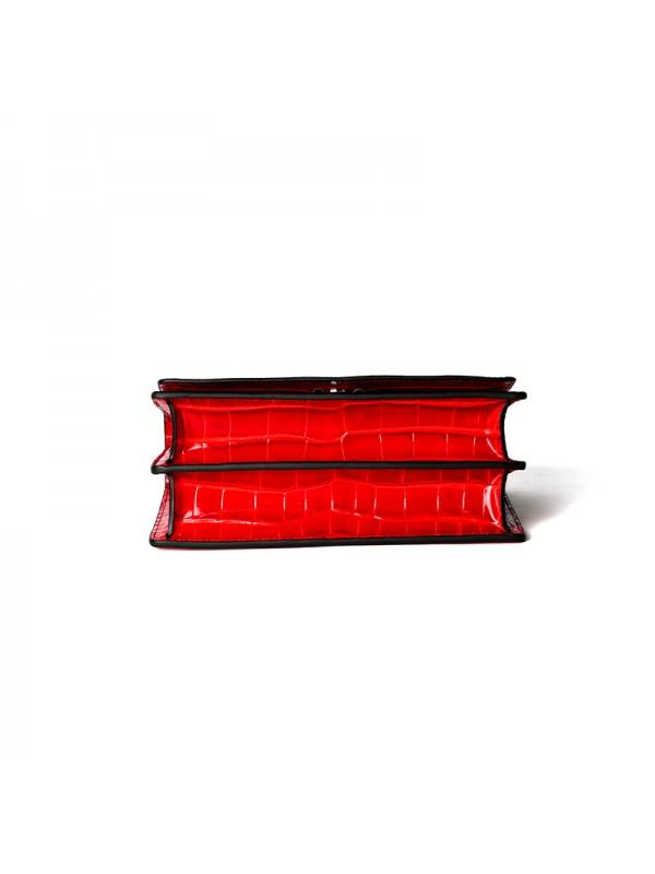 22IIDD 湾鳄经典款中国红色银扣
