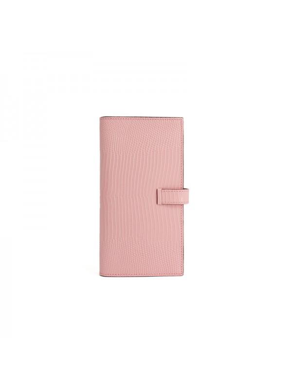 18BJBW 蜥蜴纹BABY粉色皮夹H钻扣