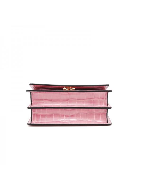 22IIDD 湾鳄经典款珊瑚粉色金扣