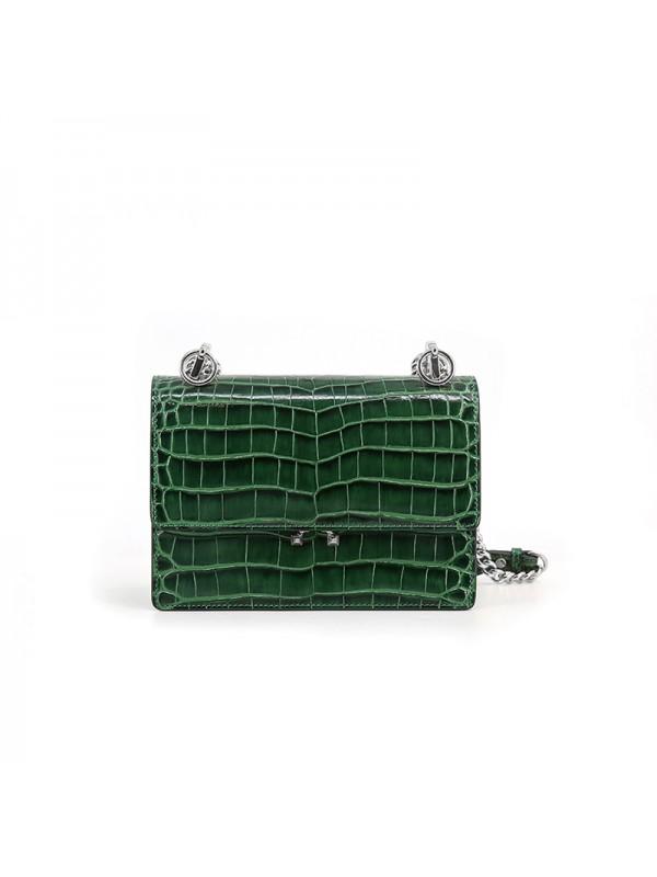 22IIDD 湾鳄经典款翡翠绿色金(银)扣