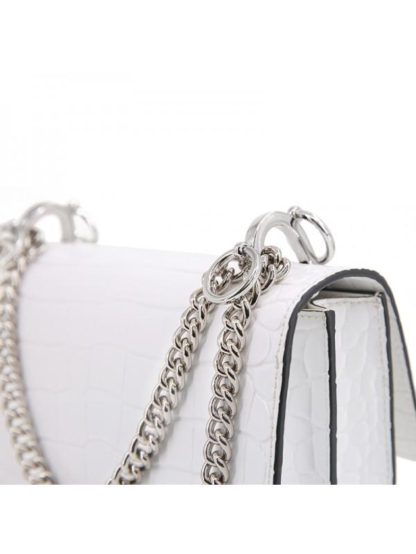 22IIDD 湾鳄经典款浪漫白色银扣