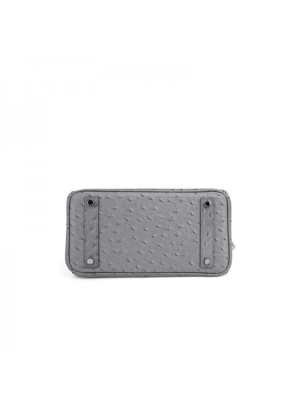 25CCBB 鸵鸟纹经典款瓷器灰色银扣