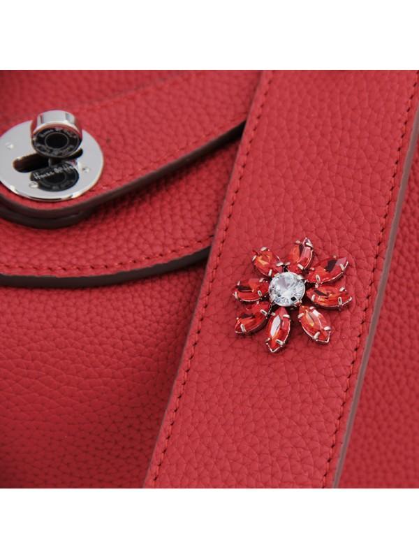 30CCLD 钻石之恋荔枝纹原版皮经典款中国红色银扣