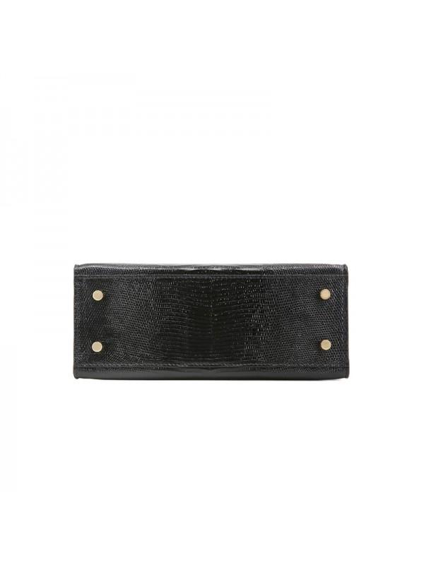 25CCKK 蜥蜴纹经典款经典黑色金扣