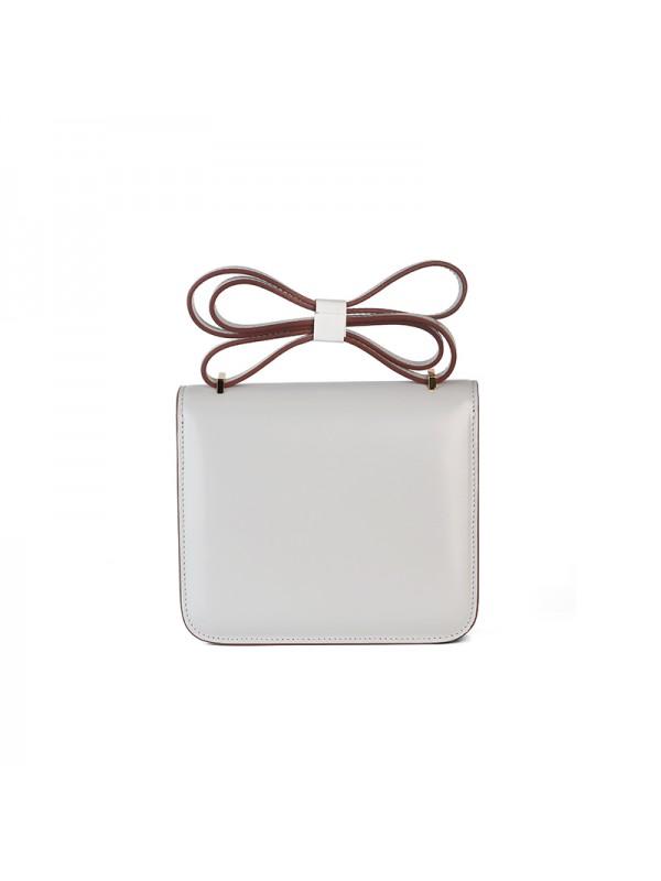 19/23CCDD FOREVER皮潘多拉空姐包珍珠灰色H金扣