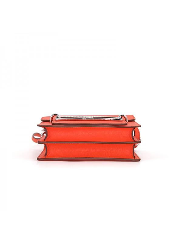 19CCHH 小荔纹HEART经典款西瓜红色银扣