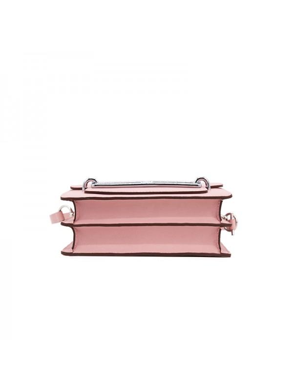 19CCHH 平纹皮HEART经典款BABY粉银扣