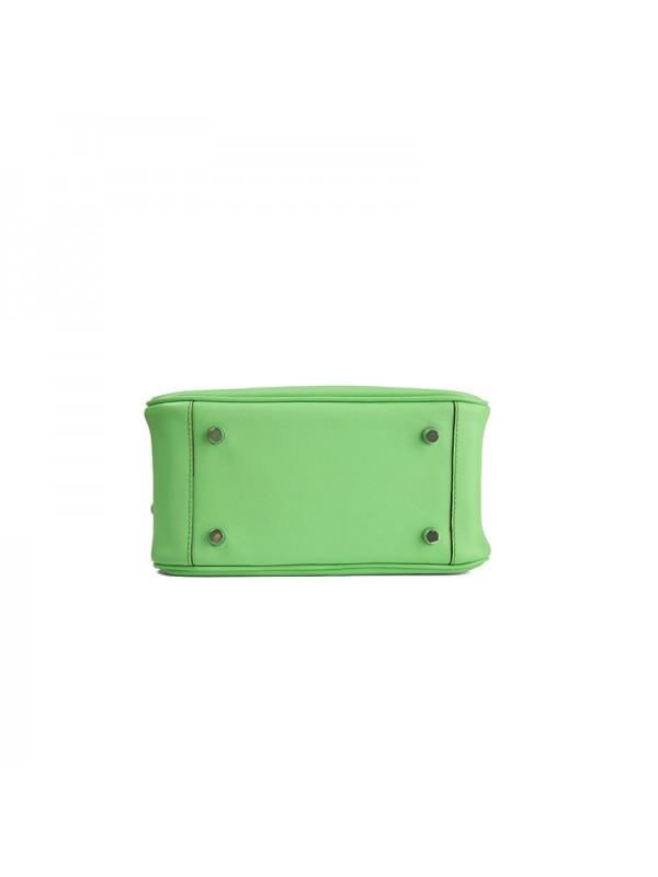 22CCLD LINDY流浪包平纹经典款苹果绿色银扣