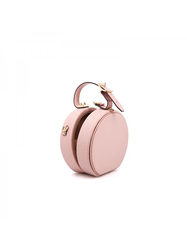 17CCYY 兰博基尼水波纹圆盒包Baby粉色金扣