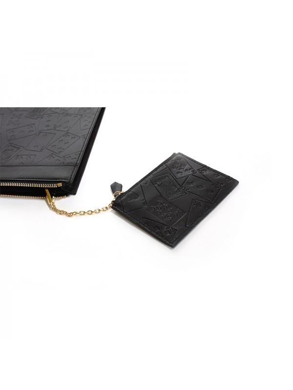 32CCSN 扑克手拿包经典黑色金扣