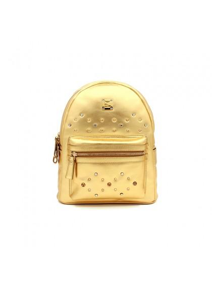 33CCSJ 平纹经典款金色双肩包