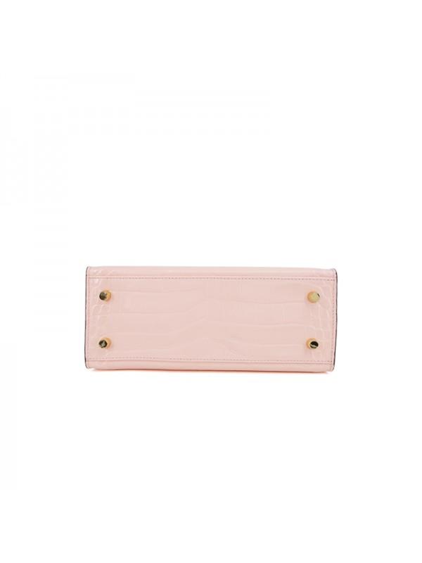 25CCKK 湾鳄经典款baby粉色金扣