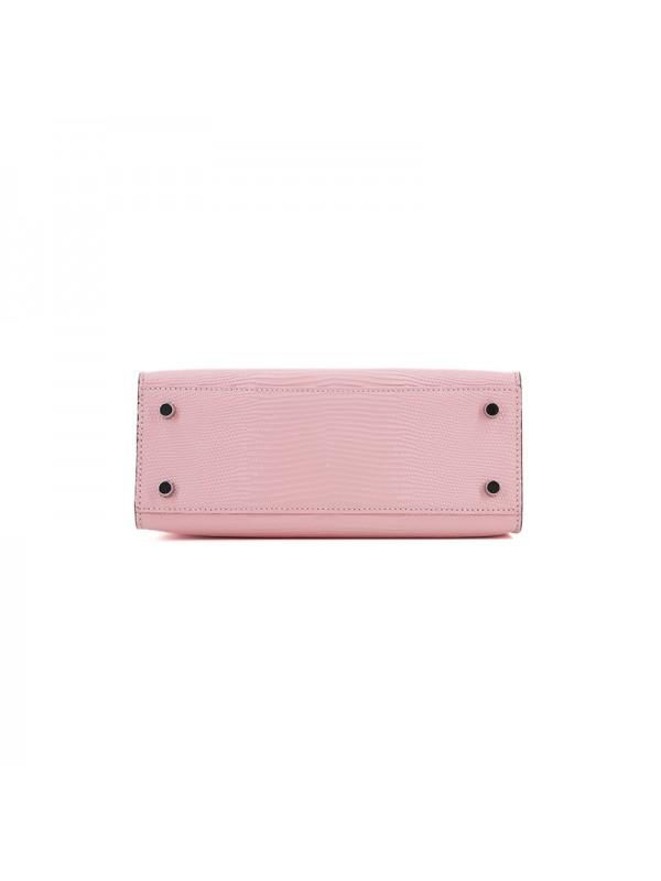 25CCKK 蜥蜴纹经典款BABY粉色银扣
