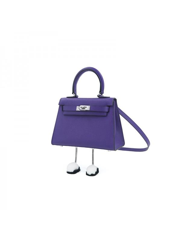 20CCKK 手掌纹Alvina梦幻紫色银扣