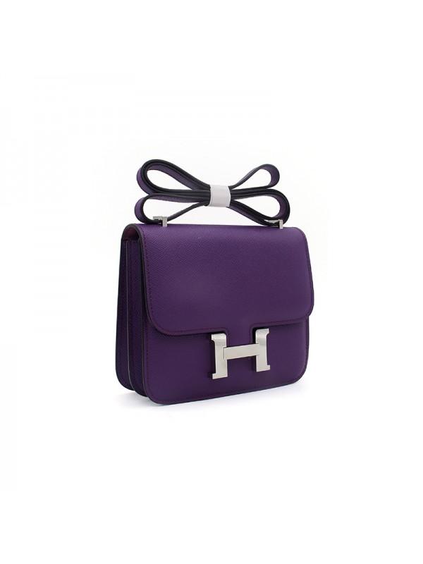19/23CCDD 手掌纹潘多拉空姐包梦幻紫色H银扣
