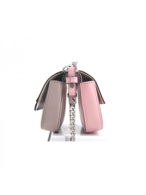 18CCED 小恶魔兰博基尼BABY粉色拼浅卡其银扣
